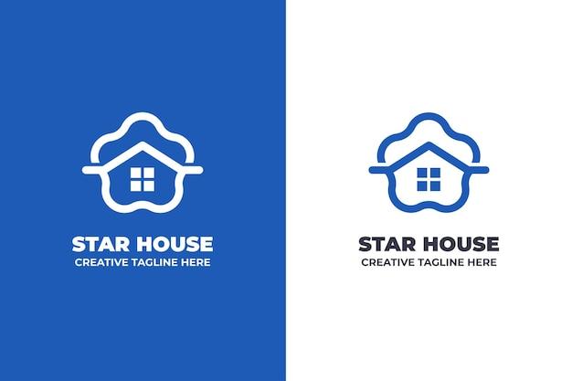 Logo de construction de maison de nuage