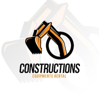 Logo de construction de pelle