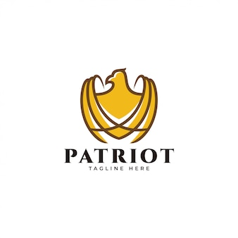 Logo contour et couleur représentant le faucon faucon aigle