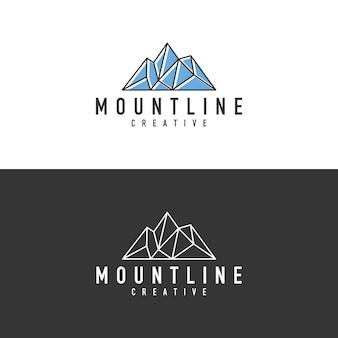 Logo de contour de montagne abstraite