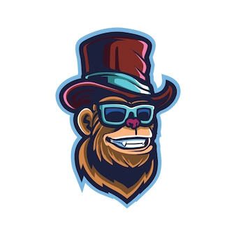 Logo cool ape esport