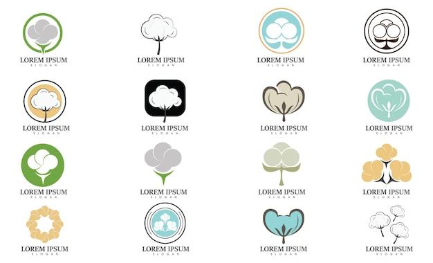 Logo coton et image vectorielle symbole
