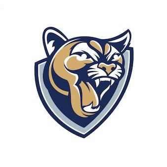 Logo cougar mascotte
