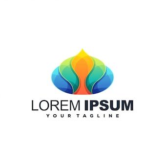 Logo couleur abstrait fleur