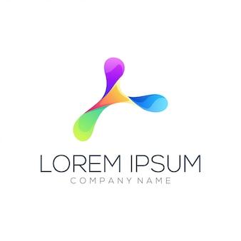 Logo couleur abstrait
