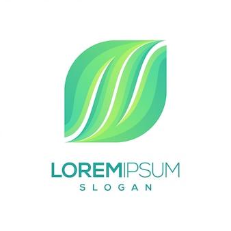 Logo couleur dégradé de feuilles