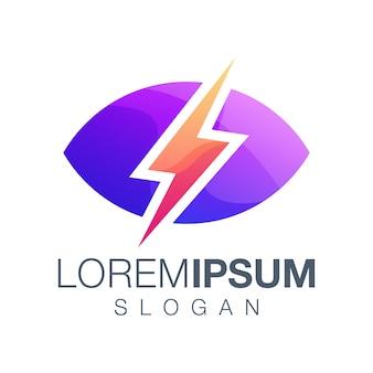 Logo de couleur dégradé inspiration éclair