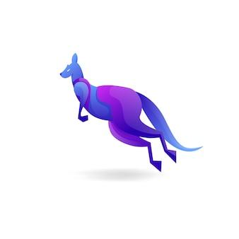 Logo de couleur dégradé kangourou