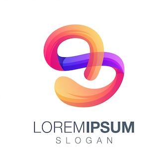 Logo couleur dégradé lettre 8