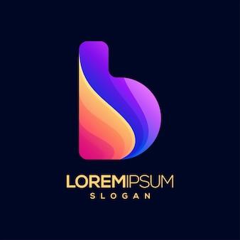 Logo couleur dégradé lettre b