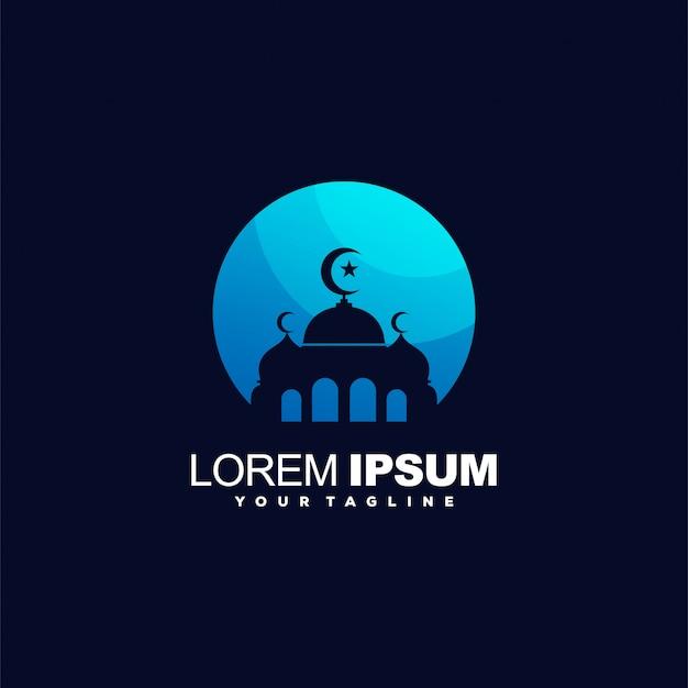 Le logo couleur dégradé de la mosquée