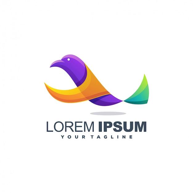 Logo couleur oiseau génial