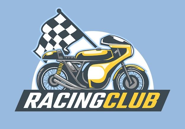 Logo de coureur de moto rétro