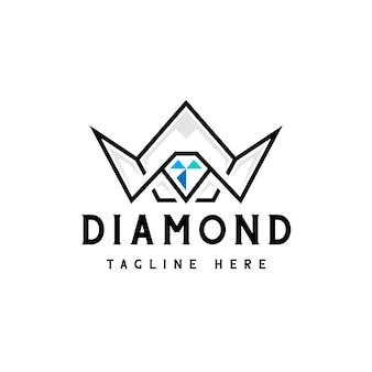 Logo de la couronne de diamant