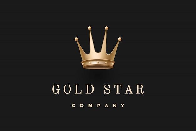 Logo avec couronne royale et inscription gold star company