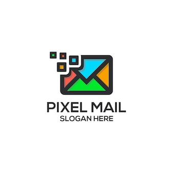 Logo de courrier pixel