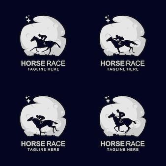 Logo de course de chevaux sur la lune