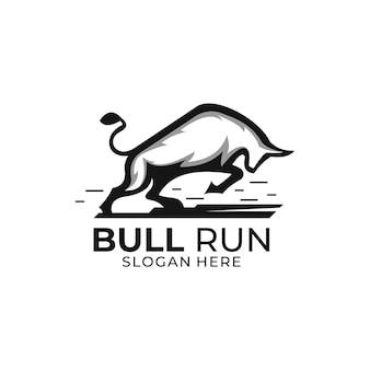 Logo de course de taureau