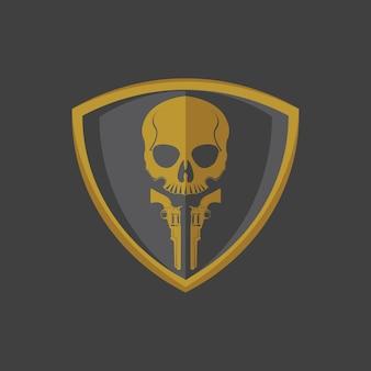 Logo de crâne et d'arme à feu