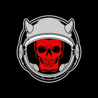 Logo de crâne d'astronaute