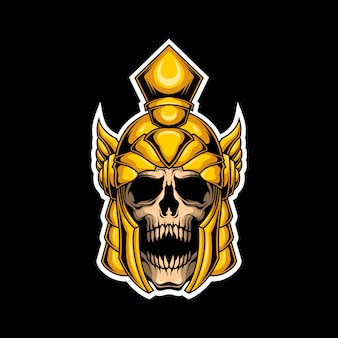 Logo de crâne de gladiateur