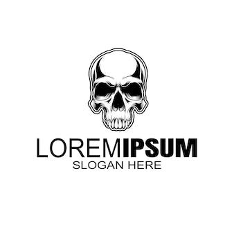 Logo de crâne, icône ou illustration de crâne, squelette.