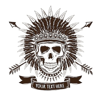Logo de crâne indien