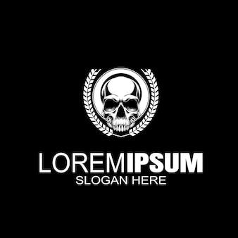Logo de crâne logo créatif