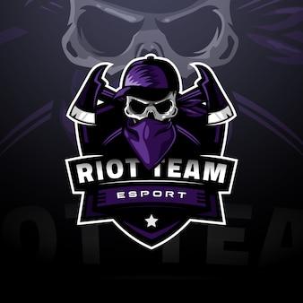 Logo de crâne masqué esport