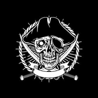 Logo de crâne de pirate