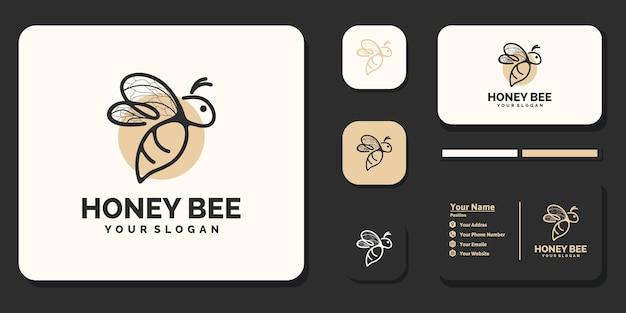 Logo créatif d'abeille à miel, référence pour les entreprises