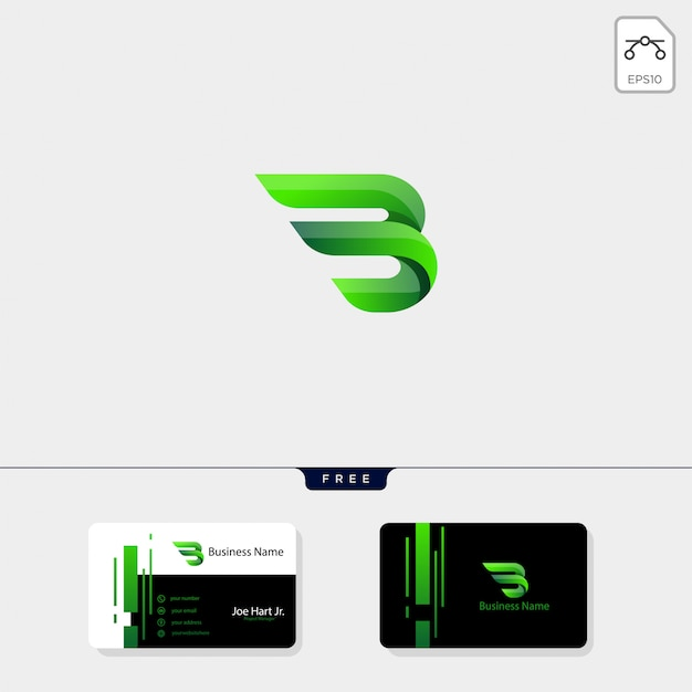 Logo créatif des ailes b initiales minimales