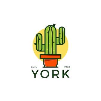 Logo créatif cactus
