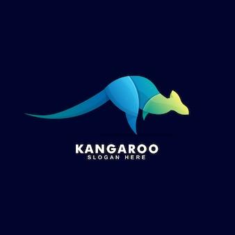 Logo créatif kangourou coloré