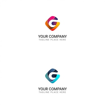 Logo créatif de la lettre g