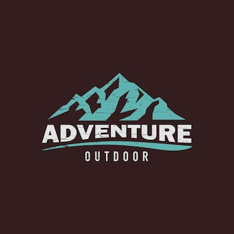 Logo créatif montagne