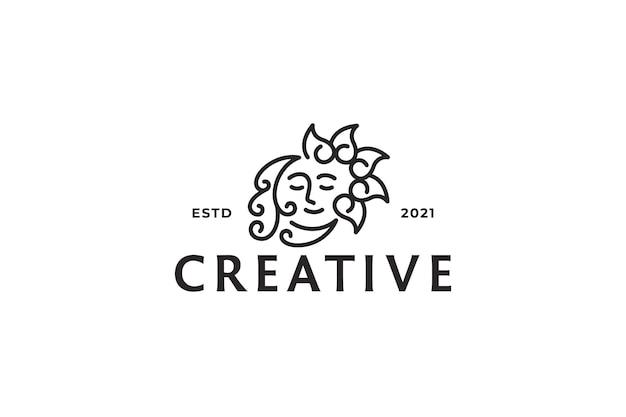 Logo créatif visage abstrait