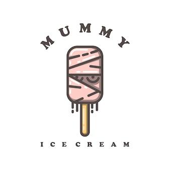 Logo de crème glacée de maman