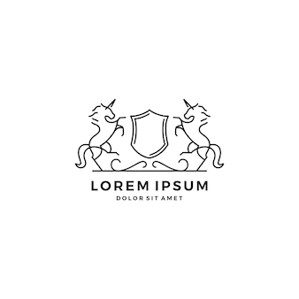 Logo de crête de cheval