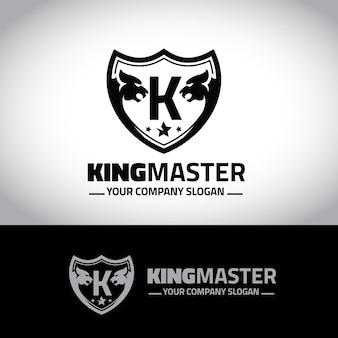 Logo de crêtes de lion. design de logo de luxe pour l'hôtel, club de sport, immobilier, spa, identité de marque de mode