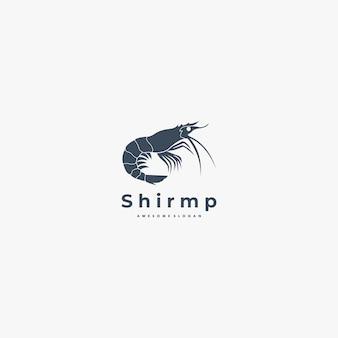 Logo de crevettes silhouette