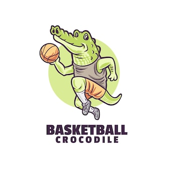 Logo de crocodile de basket-ball