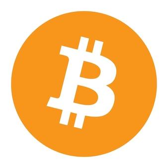 Logo de crypto-monnaie de symbole de jeton bitcoin btc, icône de pièce isolé sur fond blanc. illustration vectorielle.