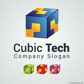 Logo cube couleur