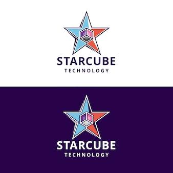 Logo de cube étoile