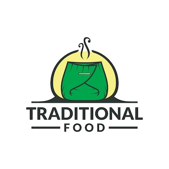 Logo de la cuisine traditionnelle logo du restaurant traditionnel