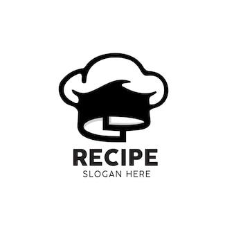 Logo de cuisinier de chef de recette