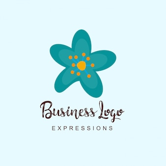Logo d'entreprise de fleurs