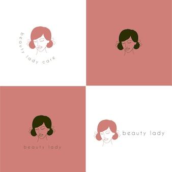 Logo de dame de beauté