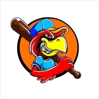 Logo de la mascotte des oiseaux de baseball